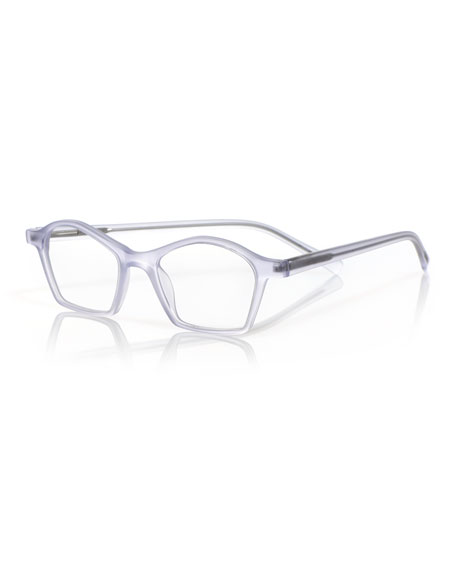 EYEBOBS Firecracker Square Acetate Reading Glasses in Clear
