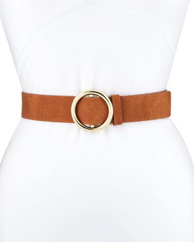 O-Ring Suede Belt