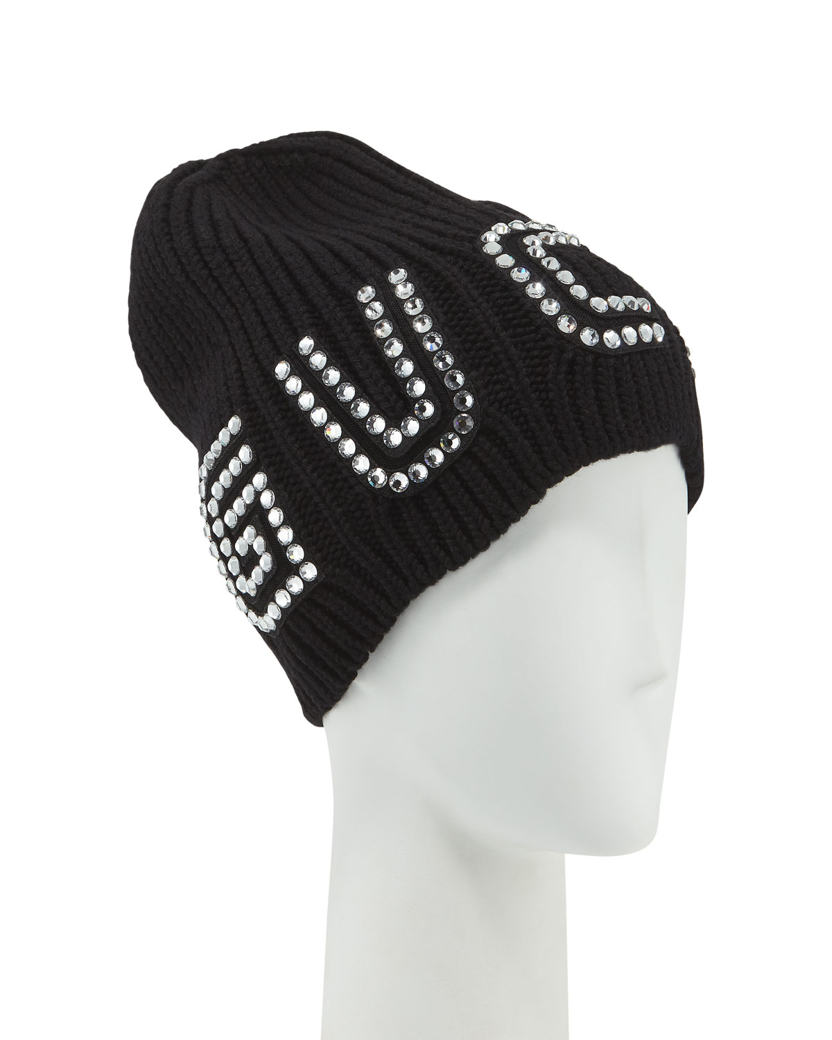 99ebe1d4a57 Gucci Game Guccy Rib-Knit Wool Beanie Hat
