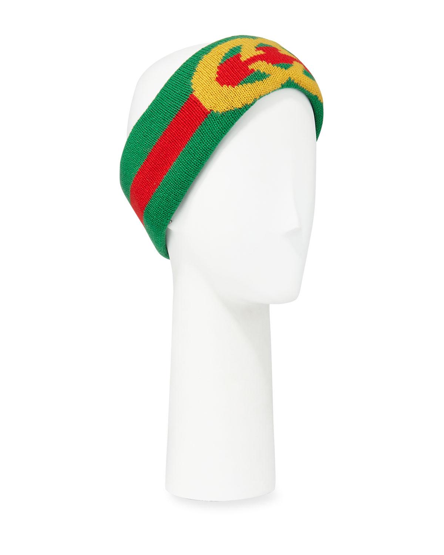 1ee9784908c Gucci GG Intarsia Wool Headband