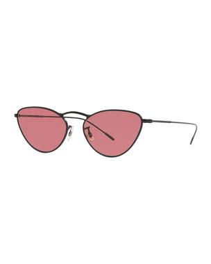 59bdfe1a60b Oliver Peoples Lelaina Cat-Eye Metal Sunglasses