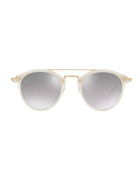 Remick Mirrored Acetate & Metal Sunglasses