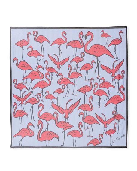 Silk Flamingos Scarf