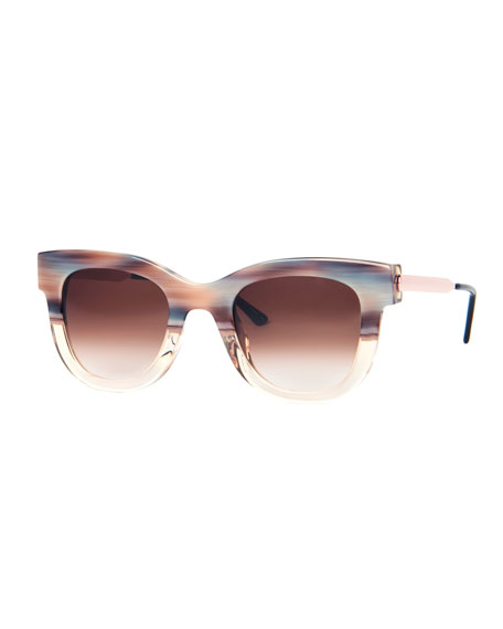 THIERRY LASRY Sexxxy Acetate & Metal Polarized Sunglasses in Pink