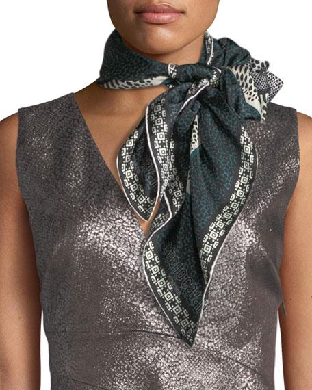Silk Snakeskin Pattern Scarf