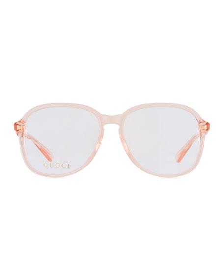 Oval Transparent Acetate Optical Frames
