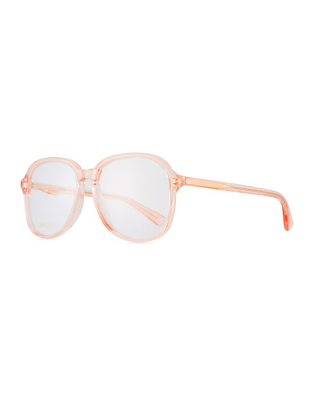 Gucci Oval Transparent Acetate Optical Frames