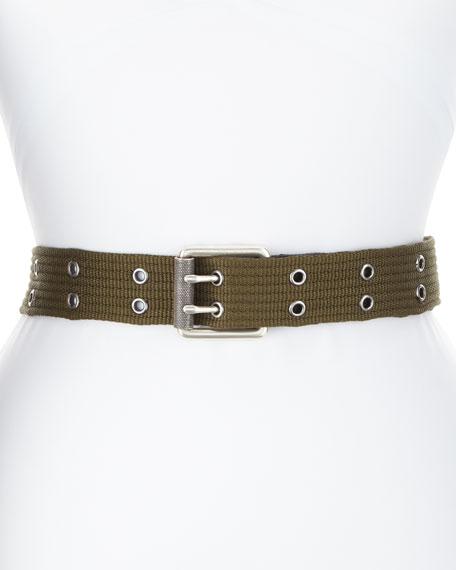Wes Web Belt w/ Silvertone Grommets