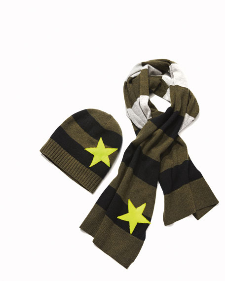 Lucky Star Stripe Cashmere Scarf