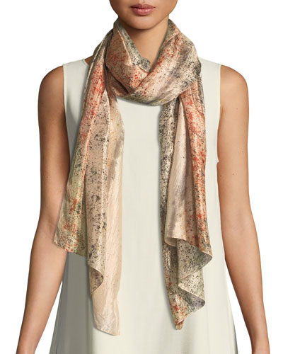Sprinkle-Dyed Silk Scarf