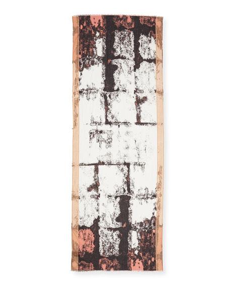Abba Printed Bricks Cotton Scarf