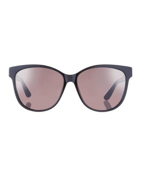 Mirrored Cat-Eye Acetate Sunglasses