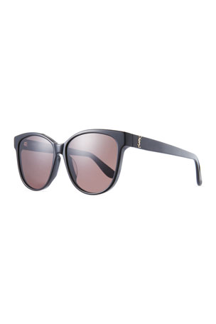 Saint Laurent Mirrored Cat-Eye Acetate Sunglasses
