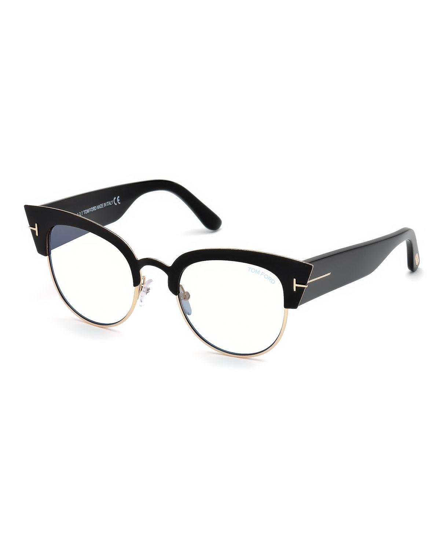 3200959eef6 TOM FORD Alexandra Cat-Eye Metal   Acetate Optical Frames