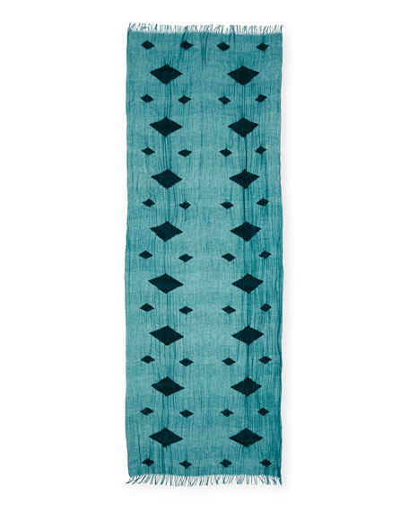 Floating Diamond Jacquard Tencel/Organic Cotton Scarf