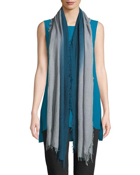 Wool/Silk Ombre Gauze Scarf