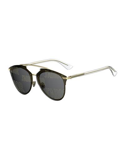 Reflected Prism Aviator Sunglasses