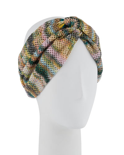 Open-Knit Knotted Headband