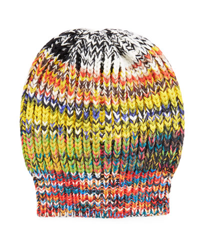 Multicolored Volume Knit Hat