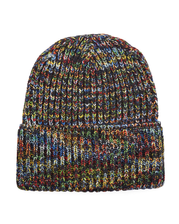 f7574f39cee Missoni Multicolored Rib-Knit Beanie Hat
