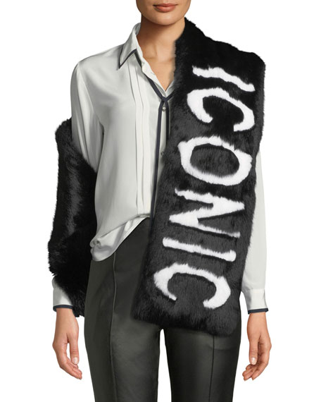 Colden Iconic Two-Tone Fur Scarf