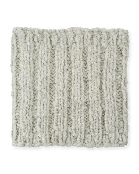 Brooke Cashmere Cable-Knit Snood in Light Gray