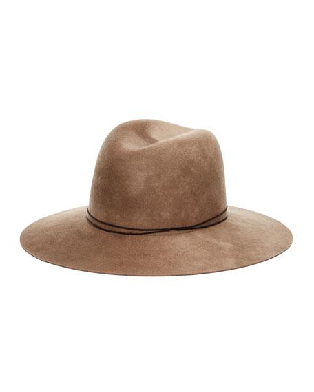 Billie Wool Fedora Hat, Camel