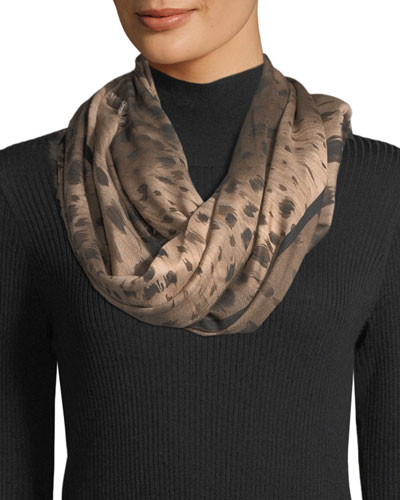 Agave Leopard Square Scarf