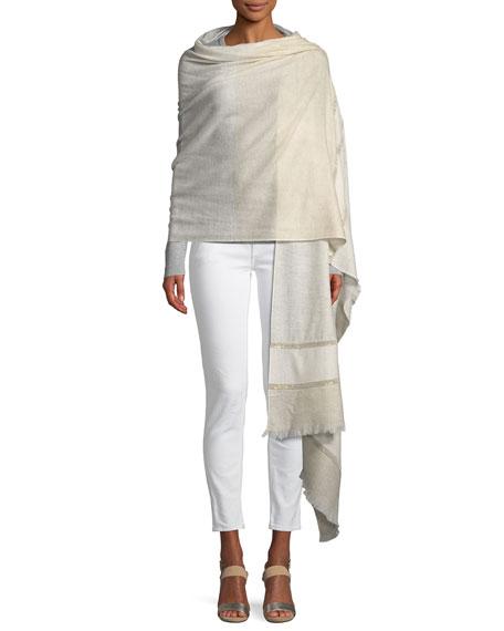 Embellished Lightweight Cashmere Scarf