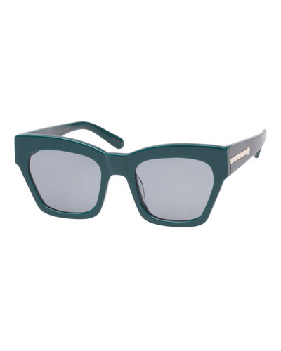Treasure Monochromatic Rectangle Sunglasses