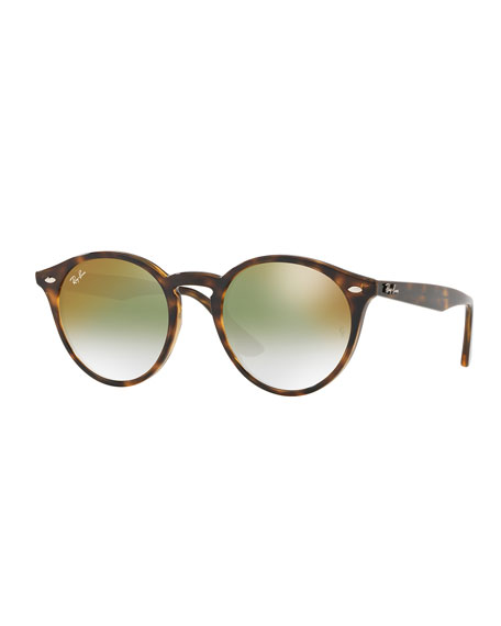 Ray-Ban Round Mirrored Iridescent Sunglasses