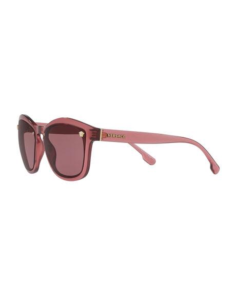 Square Monochromatic Medusa-Detail Sunglasses