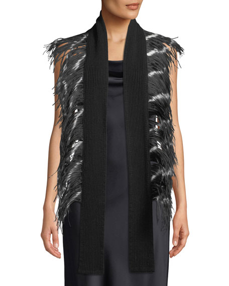 Feather & Cashmere Scarf