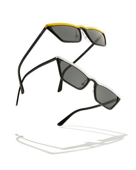 Slim Acetate Cat-Eye Sunglasses