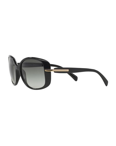 Gradient Rectangle Plastic Sunglasses