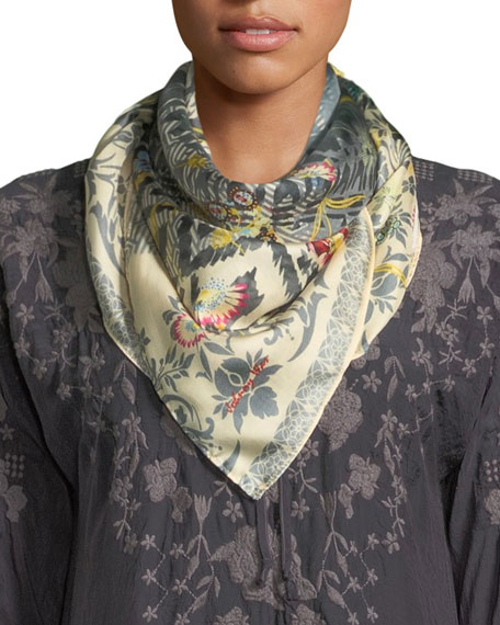 Johnny Was Fran Silk Georgette Scarf
