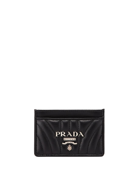 Prada Diagramme Napa Impunture Card Case