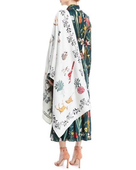 Enchanted Forest Wool/Silk Wrap