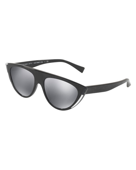 Miss J Mirrored Cat-Eye Sunglasses