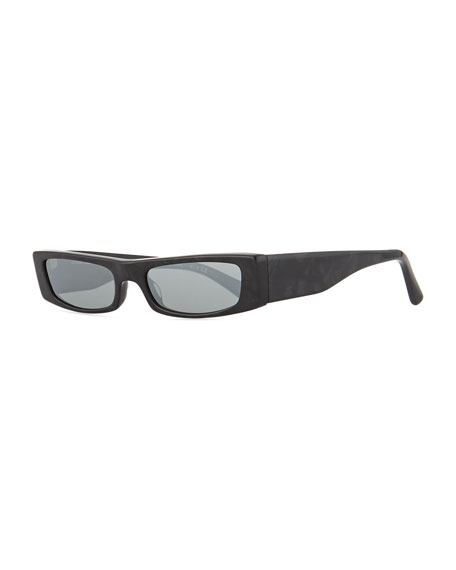 Alain Mikli Edwidge Narrow Rectangular Sunglasses - Black