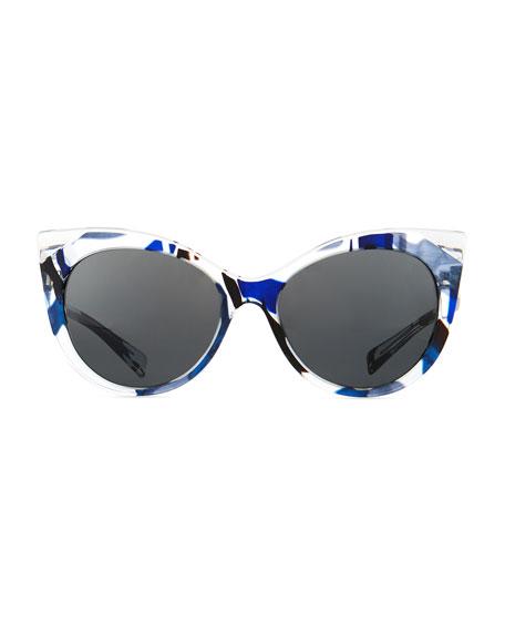 Leala Clear Cat-Eye Sunglasses
