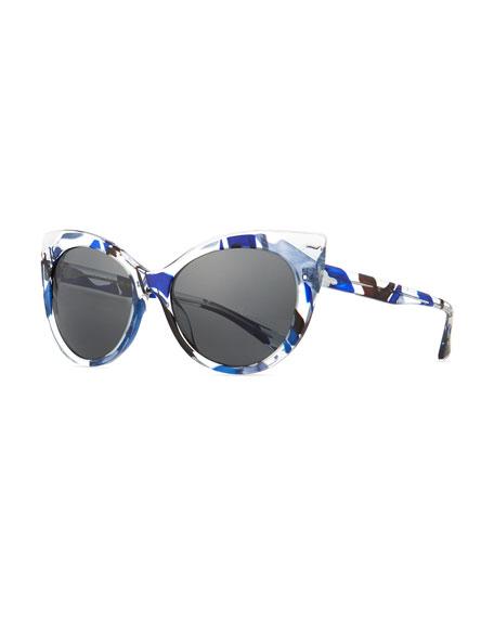 Alain Mikli Leala Clear Cat-Eye Sunglasses