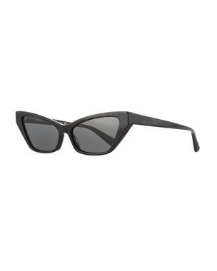 3ddd75f9e233 Alain Mikli Le Matin Acetate Cutoff Cat-Eye Sunglasses