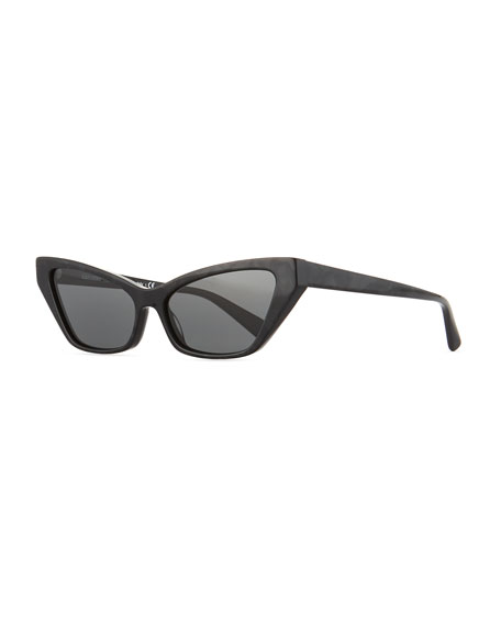 Alain Mikli Le Matin Acetate Cutoff Cat-Eye Sunglasses