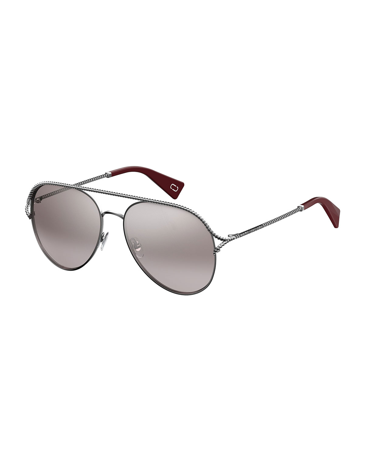 b44749d7e22 Marc Jacobs Metal Twist Aviator Sunglasses
