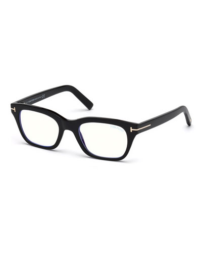 Blue Light-Blocking Rectangle Acetate Optical Frames
