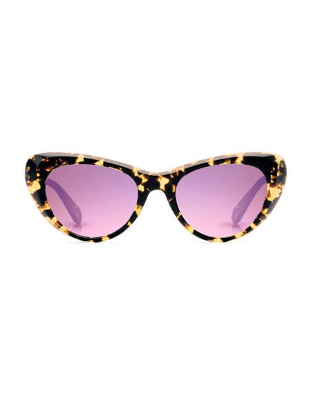 Irma Round Mirrored Sunglasses, Zulu