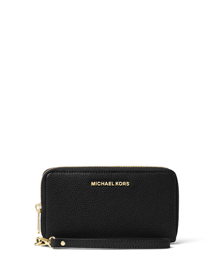 Mercer Large Flat Multifunction Leather Wristlet Phone Wallet by Michael Michael Kors