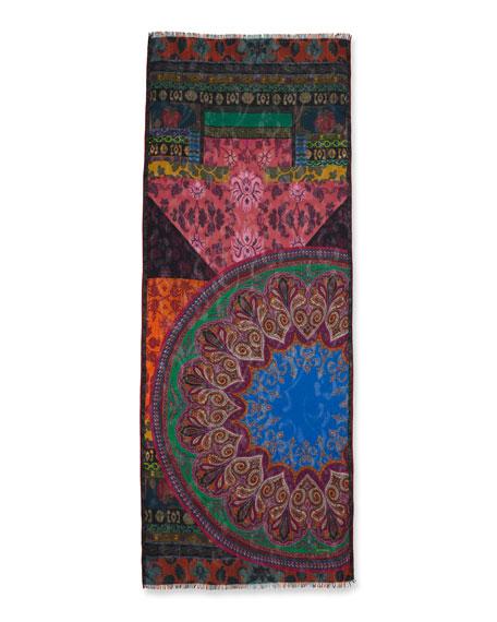 Dehly Ribbon Mandala Collage Print Scarf