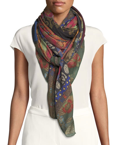 Wool-Silk Mixed Scarf